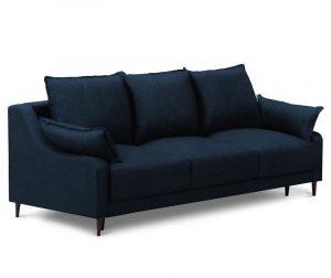Ancolie Blue Háromszemélyes kihúzható kanapé