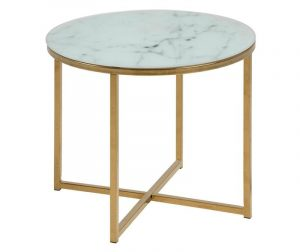 Alisma Round Short Blue Dohányzóasztal