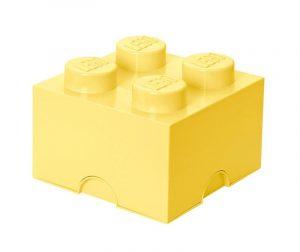 Lego Square Four Light Yellow Doboz fedővel
