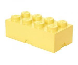 Lego Rectangular Extra Light Yellow Doboz fedővel