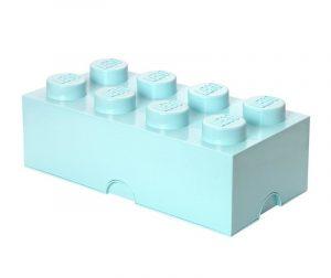 Lego Rectangular Extra Light Blue Doboz fedővel