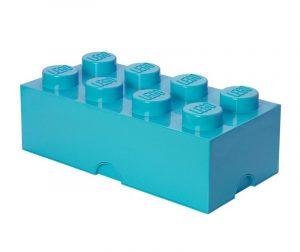 Lego Rectangular Extra Turquoise Doboz fedővel
