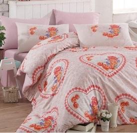Lovely Pink Egyszemélyes Ranforce Ágynemű