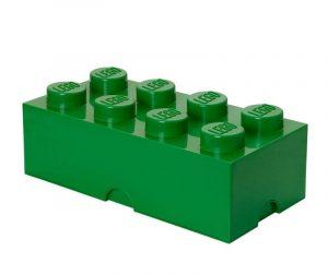 Lego Rectangular Extra Dark Green Doboz fedővel