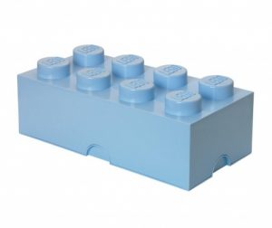Lego Rectangular Pale Blue Doboz fedővel