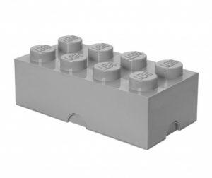 Lego Rectangular Extra Light Grey Doboz fedővel