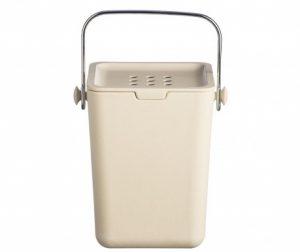 Nubu Cream Tároló fedővel komposztnak 3.5 L