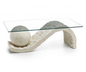 Melfi White Transparent Dohányzóasztal