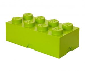 Lego Rectangular Extra Light Green Doboz fedővel