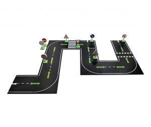 Road and Cars 26 darabos Puzzle típusú játék