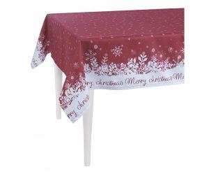 Merry Christmas Red Asztalterítő 140x300 cm