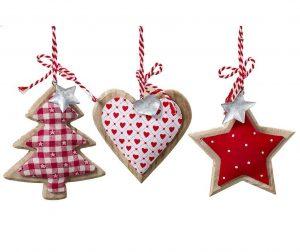 Tree Heart Star 3 db Felfüggeszthető dekoráció