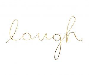 Laugh Fali dekoráció
