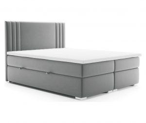 Saint Light Grey Boxspring ágy tárolóhellyel 140x200 cm