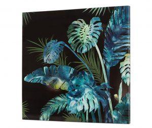 Tropical Leaves Festmény 80x80 cm
