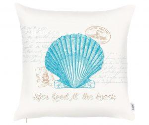 Seashell Aquamarine Párnahuzat 43x43 cm